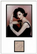 Natalie Wood Autograph Signed Display